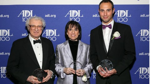 Honorees Sheldon Harnick (Lifetime Achievment Award), Harriet Newman Leve (Distinguished Leadership Award), Adam Blanshay (Future of Broadway Award)