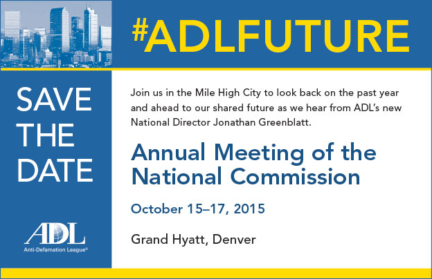 conference save the date template - anti defamation league annual meeting of the national
