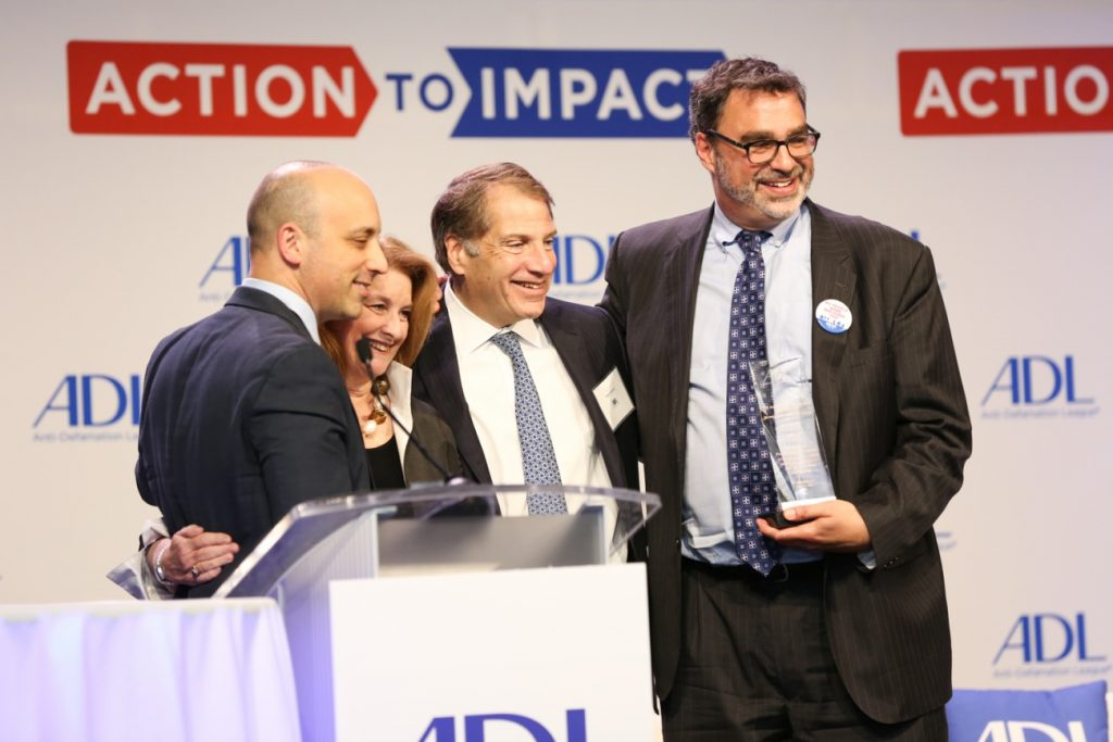 ADL honored the Hebrew Immigrant Free Aid Society, or HIAS, for their contributions in advancing the fair and welcoming treatment of immigrants to America, during its National Leadership Summit in Washington, D.C. May 10, 2017.